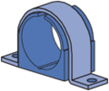 """1/4"""" thru 5-1/8"""" Cush-A-Clamp Assembly Omega Series Pipe/Tube Clamp (1-5/8"""" Series)"""