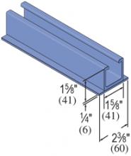 "F20P/V-2300-SST - 1-5/8"" Heavy Duty [SST Profile]; Fiberglass Concrete Insert"