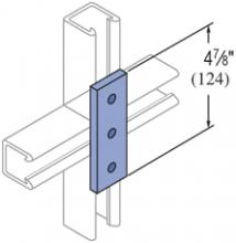 F20P/V-2502, F20P/V-2802(grooved) - 3 Hole, Flat Plate Fiberglass Fitting