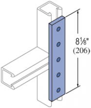 F20P/V-2506, F20P/V-2806(grooved) - 6 Hole, Flat Plate Fiberglass Fitting