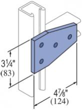 F20P/V-2524, F20P/V-2824(grooved) - 4 Hole, Flat Plate Fiberglass Fitting