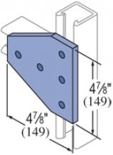 F20P/V-2526, F20P/V-2826(grooved) - 5 Hole, Flat Plate Fiberglass Fitting