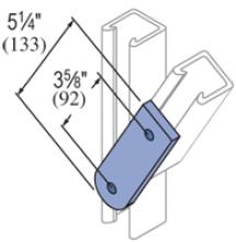 F20P/V-2528, F20P/V-2828(grooved) - 2 Hole, Flat Plate Fiberglass Fitting