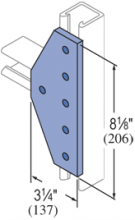 F20P/V-2530, F20P/V-2830(grooved) - 6 Hole, Flat Plate Fiberglass Fitting