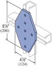 F20P/V-2534, F20P/V-2834(grooved) - 7 Hole, Flat Plate Fiberglass Fitting