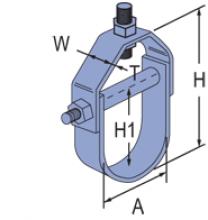 F100-1500 thru F100-1514 - Fiberglass Fabricated Clevis Hangers