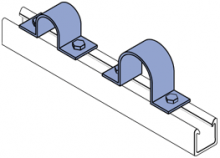 FPS200 thru FPS1800 - Fiberglass Two Hole Pipe Straps