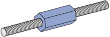 F200 Series - Fiberglass A-Konnector Rod Couplers