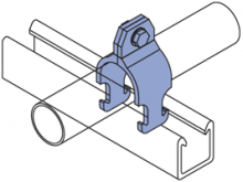 FPCR-050 thru FPCR-800 - Fiberglass Rigid Pipe Clamps