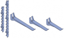F20N Series, Power-Rack Non-Metallic Cable Arms and Stanchions
