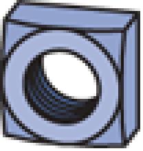 "Square Nut (1-5/8"" Series)"