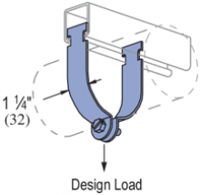 "P1109 thru P1126 - Rigid Steel Conduit Clamp (AS=Assembled) (1-5/8"" Series)"