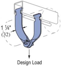 "P1211 thru P1217 - Universal Pipe Clamp (AS=Assembled) (1-5/8"" Series)"