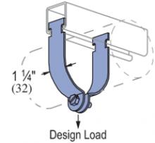 "P1118 thru P1121, P1425 thru P1431 - Conduit (EMT) Clamp (1-5/8"" Series)"