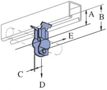 """P3409 thru P3417 - Stand-Off Pipe Clamps (1-5/8"""" Series)"""