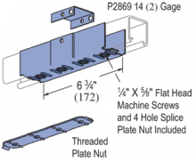 "P3922 thru P3926 - Splice Fitting (1-5/8"" Series)"