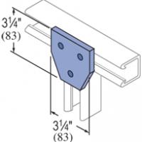 F20P/V-2522, F20P/V-2822(grooved) - 3 Hole, Flat Plate Fiberglass Fitting