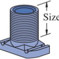 "P2540, P2540A - Wiring Stud Nut (1-5/8"" Series)"