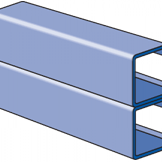 """A1001A - 1-1/4"""" x 2-1/2"""", 14 Gage Channel, Side-to-Side"""