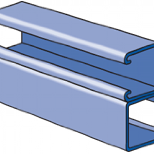 """A1001B - 1-1/4"""" x 2-1/2"""", 14 Gage Channel, Combination"""