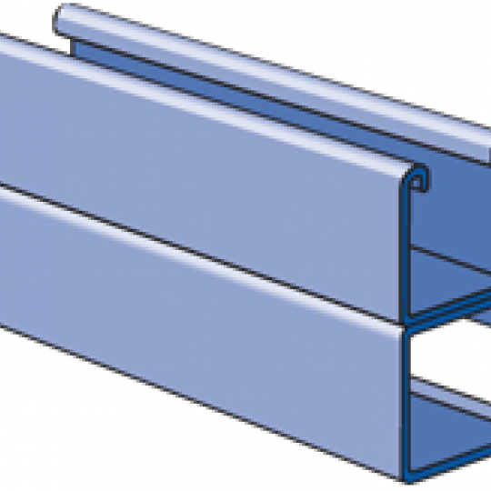 """A1001C - 1-1/4"""" x 2-1/2"""", 14 Gage Channel, Combination"""