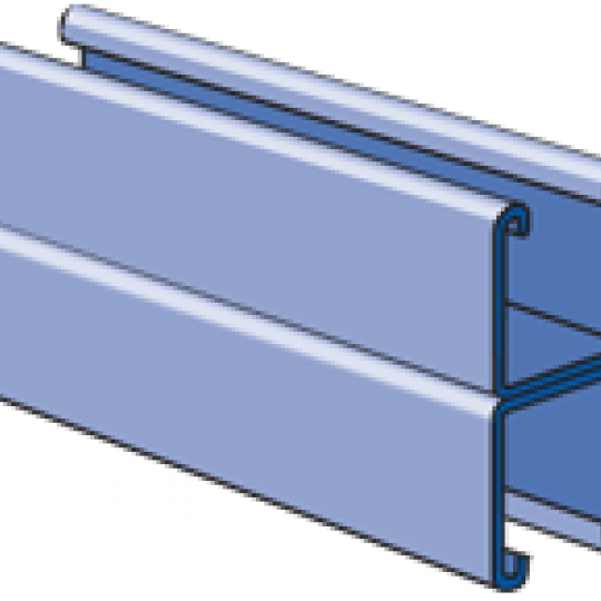 """A1001 - 1-1/4"""" x 2-1/2"""", 14 Gage Channel, Back-to-Back"""