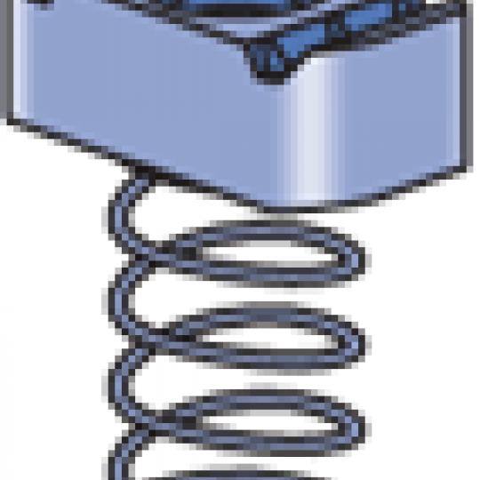 "A1006 thru A1008 - Channel Nut w/Spring (1-1/4"" Series)"