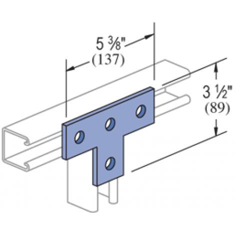 P1031 - 4 Hole, Flat Plate Fitting