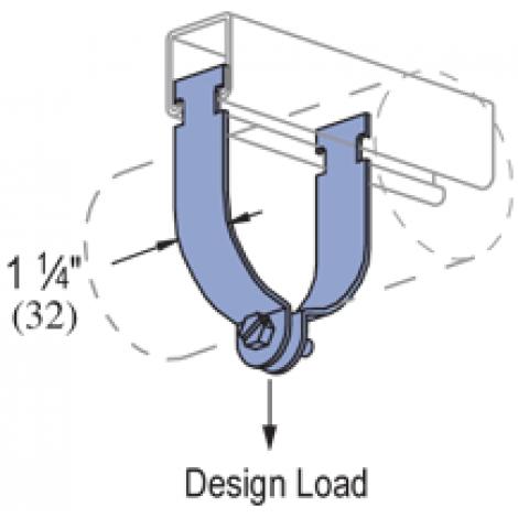 "P1109 thru P1126 - Rigid Steel Conduit Clamp (AS=Assembled) (1-5/8"" Series)"