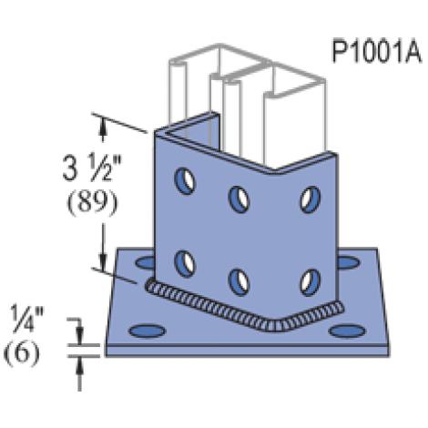 P2073A, P2073ASQ - Post Base (1-5/8