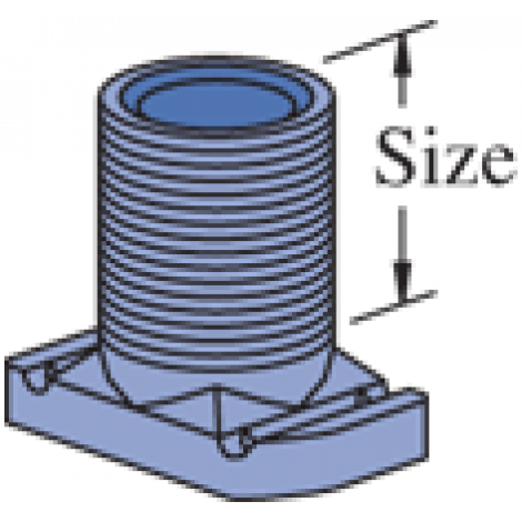 "P2540, P2540A - Wiring Stud Nut (1-5/8"" Series)"