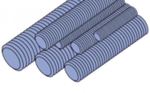 """Steel Threaded Rod (1-5/8"""" Series)"""
