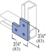 F20P/V-2508, F20P/V-2808(grooved) - 3 Hole, Flat Plate Fiberglass Fitting