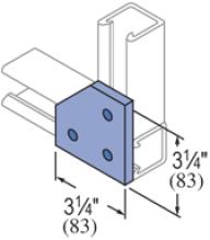 F20P/V-2514, F20P/V-2814(grooved) - 3 Hole, Flat Plate Fiberglass Fitting