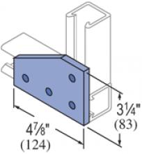 F20P/V-2516, F20P/V-2816L/R(grooved) - 4 Hole, Flat Plate Fiberglass Fitting