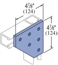F20P/V-2520, F20P/V-2820(grooved) - 6 Hole, Flat Plate Fiberglass Fitting