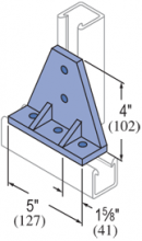 F50PU-2538 - 5 Hole, 90° Fiberglass Fitting