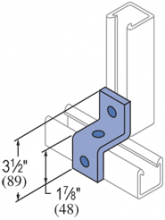 "F50PU-2611 - 3 Hole, ""Z"" Shape Fiberglass Fitting"