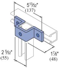"""F50PU-2613 - 3 Hole, """"U"""" Shape Fiberglass Fitting"""