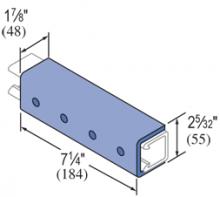 """F50PU-2616 - 4 Hole, """"U"""" Shape Fiberglass Fitting"""