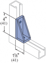 F50PU-2636, 50PU-2636A, 50PU-2636B - 2 Hole, 90° Fiberglass Fitting
