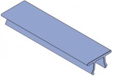 F20E-5000 - Fiberglass Channel Capping Strip; (Color, Gray)