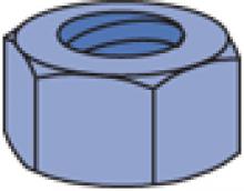 PU-000 Series - Fiberglass Hex Nut