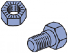 PA1SNB - Serrated Nuts and Bolts